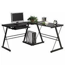 L şeklinde bilgisayar masası ofis ev köşe masası iş istasyonu PC dizüstü  bilgisayar çalışma masası abd stok|Laptop Desks