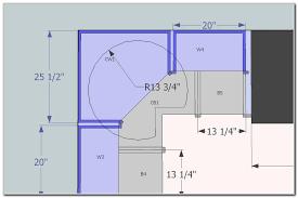 kitchen base cabinet lazy susan dimensions home