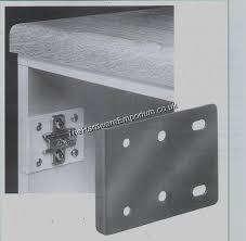 1pr kitchen door hinge repair plate
