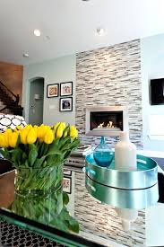 glass tile fireplace glass tile fireplace surround living room contemporary with bouquet ceiling lighting fireplace image