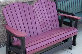 outdoor glider bench purple