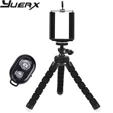 <b>Universal Compact Tripod Stand</b> Remote Included Flexible Octopus ...