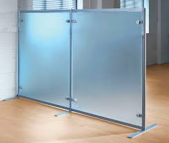 Office partition dividers Contemporary Office Floormounted Office Divider Glass Modular Freestanding Archiexpo Floormounted Office Divider Glass Modular Freestanding Shopkit