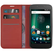 motorola phone cases. leather wallet case \u0026 card holder for motorola moto g4 play - red phone cases