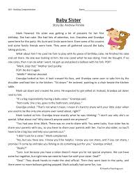Free Reading Comprehension Worksheets For 2nd Grade. Reading ...