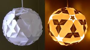 DIY paper lantern (star ball) - learn how to make a puzzle IQ light -  EzyCraft - YouTube