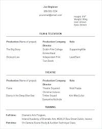 Theatre Resume Template Custom Theatrical Resume Template Word Actors Resume Template Word Acting