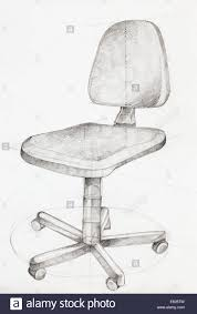 office chair drawing. Interesting Chair Hand Drawn Illustration Of Office Chair Perspective View And Office Chair Drawing