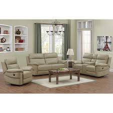 Rockhill Piece Top Grain Leather Power Reclining Living Room Set