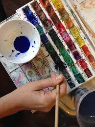 real paint pallet. stretching colors can be used in different ways, like as a background for painting. this is real fun, i promise you! paint pallet