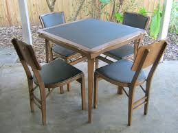 Wood Folding Card Table And Chairs Set With Design Picture 1203 ...