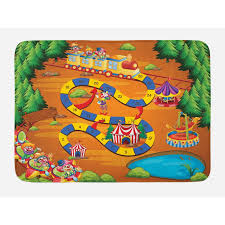 ambesonne kid s activity bath mat by helping the lost clowns circus themed colorful cartoon amusement