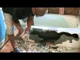 how to remove cast iron bath tub