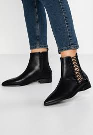 whitney lace up ankle boots black