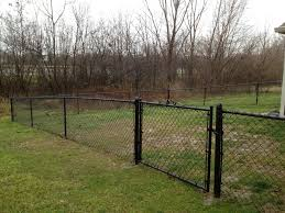 42 Tall Black Vinyl Chain Link Fencing by by Affordable Fence