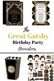 party like gatsby with these beautiful black and gold great gatsby birthday party decorations gatsby