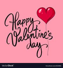 Happy Valentines Day Card With Handwritten