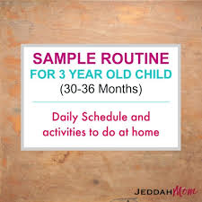 Morning Routine Chart For 5 Year Old Sample Routine For A 3 Year Old Child