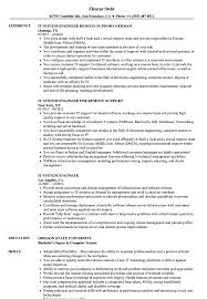 It System Engineer Resume Samples Velvet Jobs