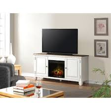 living room with electric fireplace and tv. 68 Inch White TV Stand With Fireplace Living Room Electric And Tv