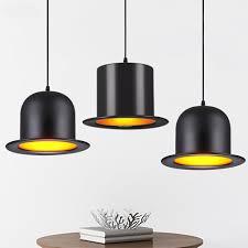 Pendant Light Cap Modern Jazz Pendant Lamp Aluminum Top Hat Light For Kitchen