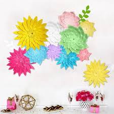 Homemade Paper Flower Decorations Paper Flowers Wedding Wall Decorations 20cm Handmade Paper Flower