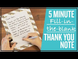 Thank You Not 5 Minute Fill In The Blank Thank You Note Youtube