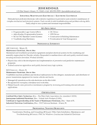 Electrical Maintenance Engineer Resume Samples Best Of Sample Resume