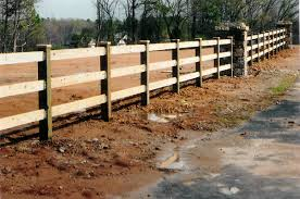 wood rail fence. Fine Fence 6x6  2x6 Estate Rail Intended Wood Fence