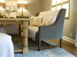 wingback upholstered bench short wood legs