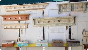 How To Make Coat Rack With Door Knobs Fascinating Coat Racks Made From Reclaimed Wood And Vintage Door Knobs DIY