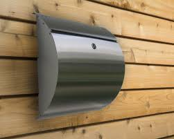 residential mailboxes wall mount. Curb Appeal Stainless Steel Modern, Contemporary Wall Mount Mailbox Residential Mailboxes U