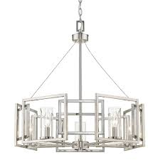 Marco Light Fixtures Golden Lighting Marco 5 Light Pewter Chandelier With Clear Glass