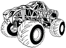 Monster Jam Truck Coloring Pages Printable Free For Toddlers Book