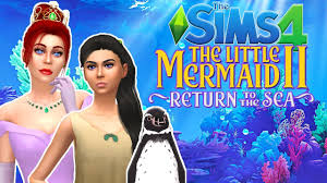 THE SIMS 4- THE LITTLE MERMAID 2|CAS - YouTube