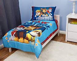 Amazon.com : Paw Patrol To The Lookout Toddler Bed Set : Baby