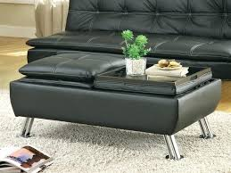 fashionable ottoman with storage and tray taptotrip me