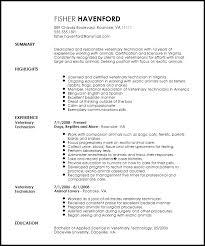 Veterinary Resumes Free Professional Veterinary Technician Resume Template