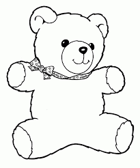 Small Picture Teddy Bear Coloring Pages For Kids
