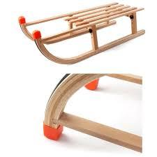 flexible wooden snow sled diy wood flyer 6 foot classic toboggan vintage old antique sleds