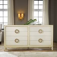Modern History Home Abstract Dresser Antique White