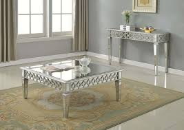 Mirrored Living Room Furniture T1840 Sophie Silver Mirrored Living Room Tables