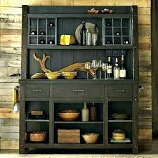 outdoor buffet hutch top wine rack wood bakers racks furniture c decorative with storage wine rack kitchen bakers