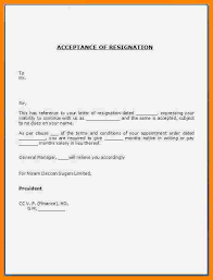 15 Accepting A Resignation Letter Sample Istudyathes