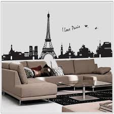 new removable wall stickers classic modern paris eiffel tower wall stickers home decor restaurants living room 60 90cm hot removable wall art removable wall