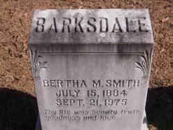 Bertha Mae McKinney Barksdale (1884-1975) - Find A Grave Memorial