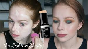 make up for ever stick foundation the lightest shade