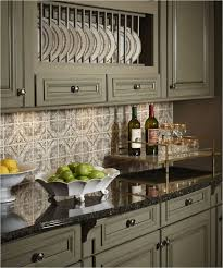 Black Granite Countertops With Tile Backsplash Delectable KitchenKitchen Sage Green Painted Cabinets Black Granite