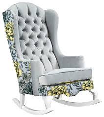 vivan tufted velvet rocking chair chartreuse