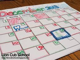How To Make A School Calendar Lion Cub School Freebie Friday Calendar Printable And